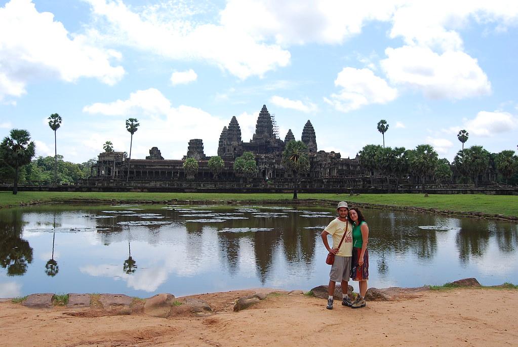Pau i Vero en Angkor Wat
