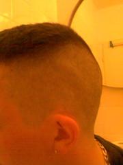 My Buzzcut (parisboy24) Tags: haircut male silver buzz cut shaved buzzcut burr induction nape neckchain