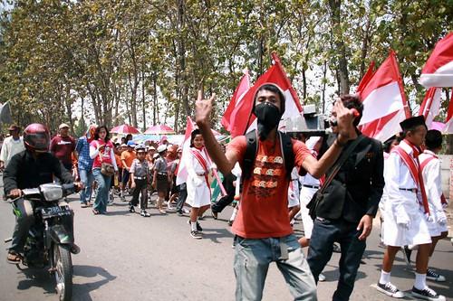 Die Paraden anlässlich des 63. Unabhängigkeitstages....