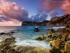 Portixol Cove (Salva del Saz) Tags: blue sea sky espaa seascape beach azul clouds canon eos coast mar spain rocks mediterranean mediterraneo raw waves cove playa alicante coastal cielo nubes olas 1022mm cala rocas 1022 javea cokin efs1022mm xabia portixol p121 nd8 singleraw 40d salvadordelsaz salvadelsaz gradualneutralgreyg2