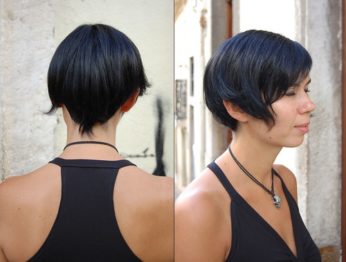 Hair Color Dark Blue Short Haircut A Photo On Flickriver