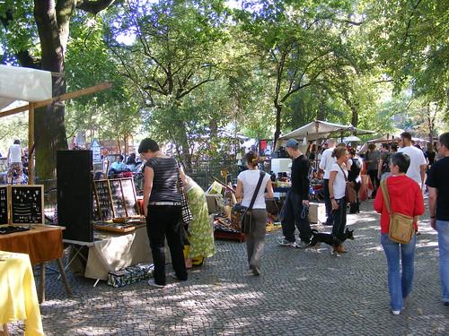 Flohmarkt de Berlín.
