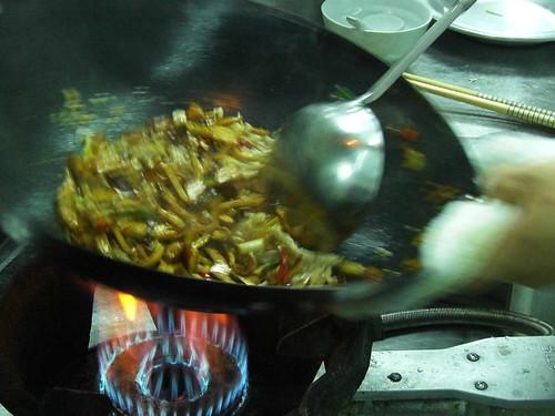 肉絲與豆干一起拌炒2
