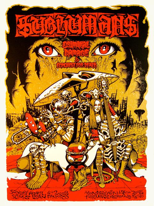 Subhumans Gig Print - Sutfin