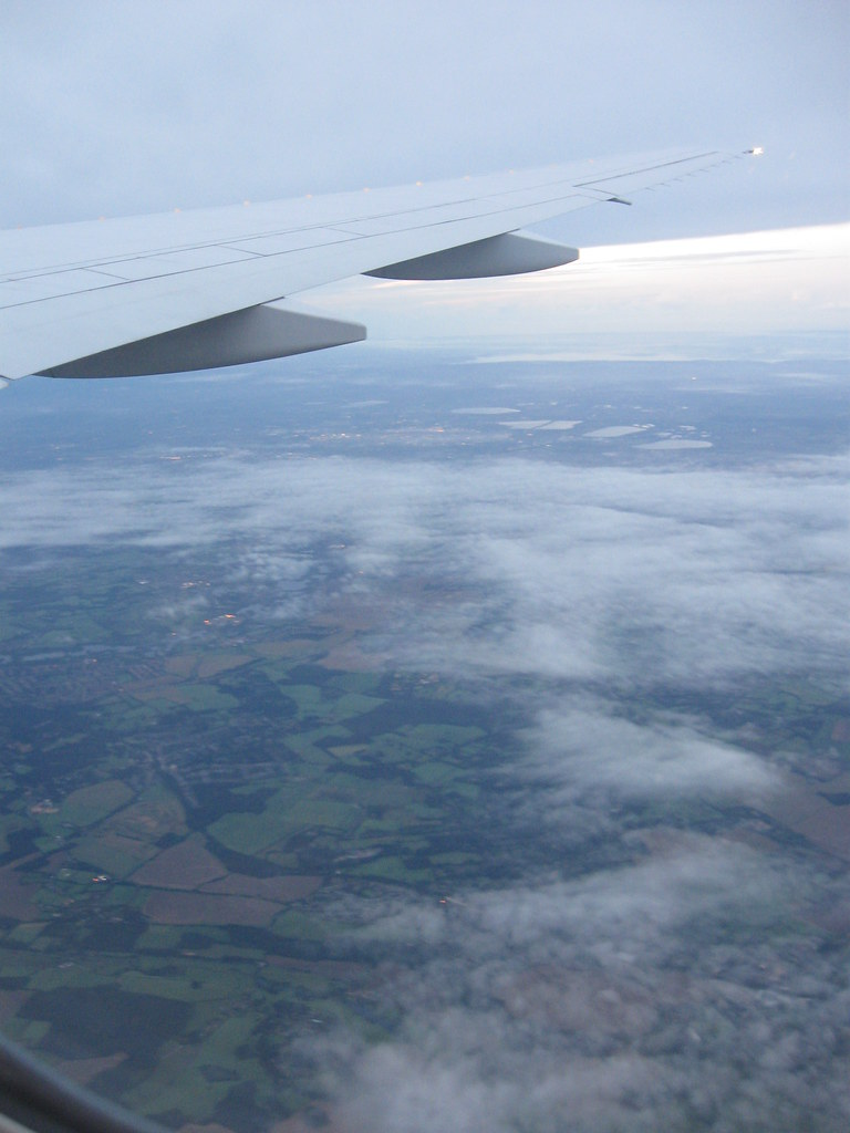 England from the plane