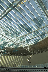 New Indianapolis Airport Preview (indyjrob) Tags: architecture airport indianapolis aviation indy stainedglass terminal indianapolisinternationalairport indyorg weircookterminalairport