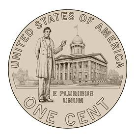 2009 Lincoln Cent State Capitol Reverse
