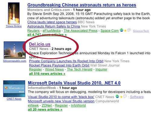 Google News Glitch