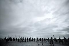 Bill (aqui-ali) Tags: sanfrancisco california ca sky sculpture usa art beach fog clouds horizon fv5 nativeamerican oceanbeach indians thomross buffalobillwildwestshowrecreation aquiali:a=1