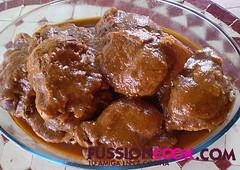 carrilleras en salsa de berenjenas
