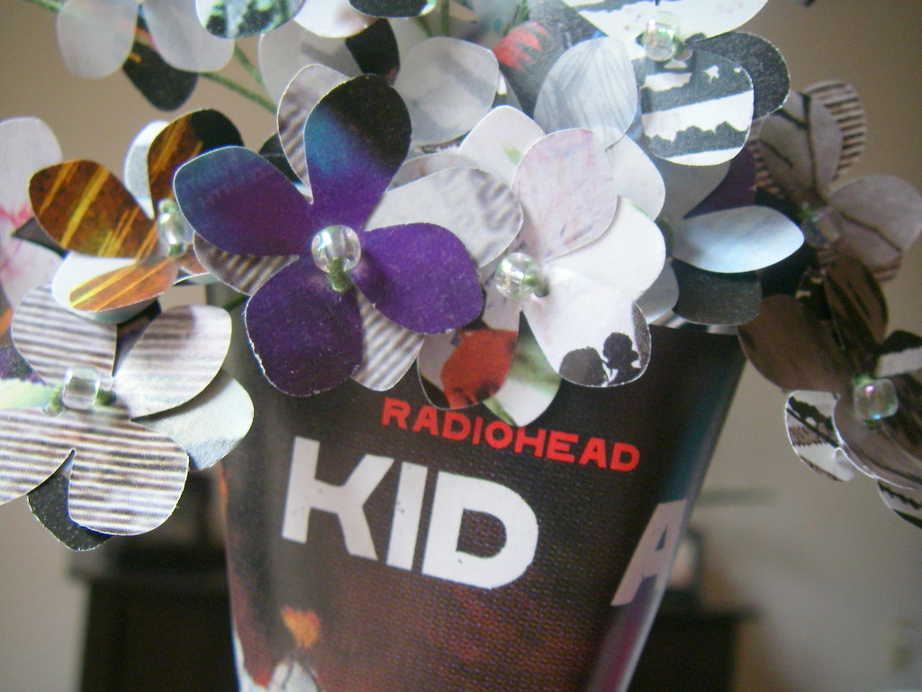 Radiohead - Upcycled Album Bouquet