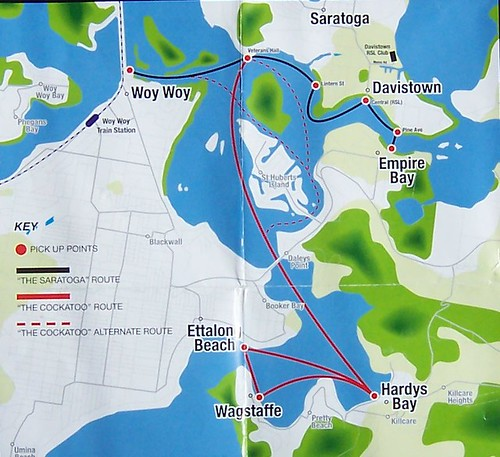 Ferries map