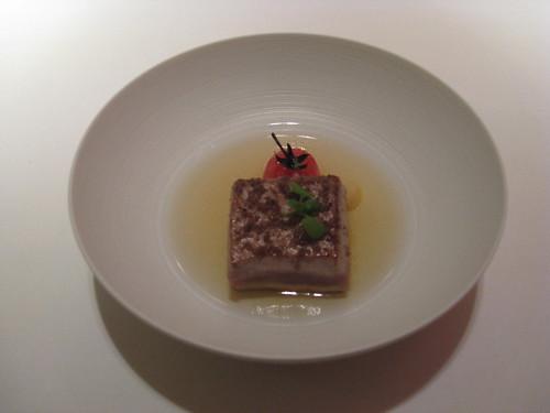 Cinc Sentits - Barcelona:  Tuna in Smoked Tomato Water