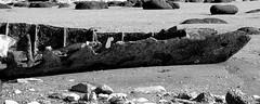 The Sheraton (Plbmak) Tags: blackandwhite bw cliff beach blackwhite ship shipwreck hunstanton