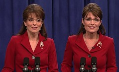 Tina Fey & Sarah Palin  side-by-side on SNL