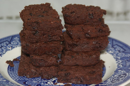 Rum Raisin Fudge Brownie