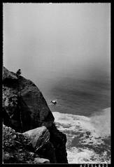 cliff sitting (Lararuthless.com) Tags: blakandwhite film punks 36mm punkphotography lararuthless