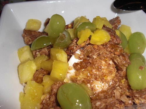 Greek Yogurt with granola and fruit
