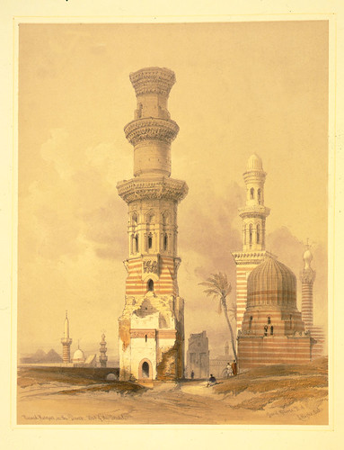 020- Mezquitas en ruinas en el desierto al oeste de la ciudadela- David Roberts- 1846-1849