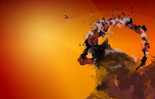 Ubuntu 8.10 Intrepid Ibex Wallpapers - 1bintelmac_red_16001024_notxt