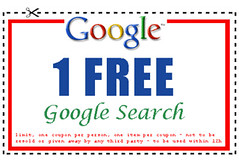 Google Search Coupon: 1 FREE Google Search (Bramus!) Tags: google search voucher coupon googlebon