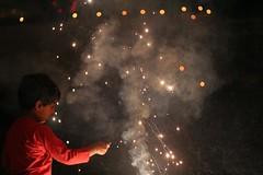 Pukhraj and a sparkler