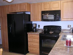 updated mobile home kitchen