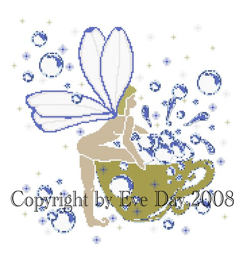 Another Cup Of Bubbles Cross Stitch Pattern Gold Collection