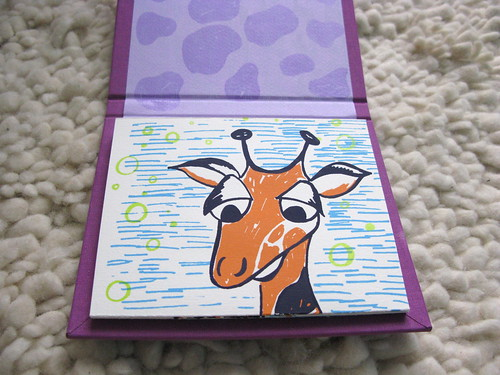 first page of giraffe accordian book