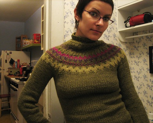 081112. no hair and a new sweater.