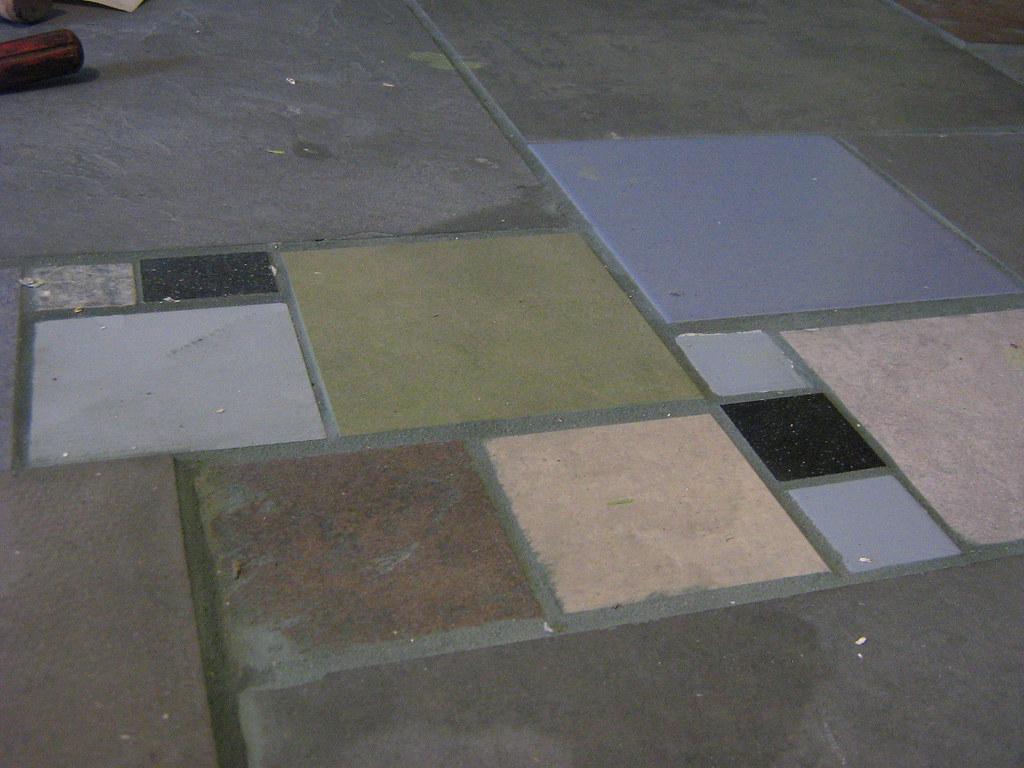 detail on floor tile