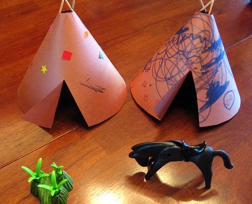 Kids Craft Indian Teepee
