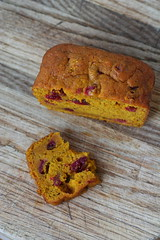 Kabocha Cranberry bread 1