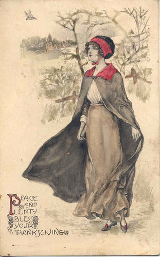 Vintage Thanksgiving postcard, 1913