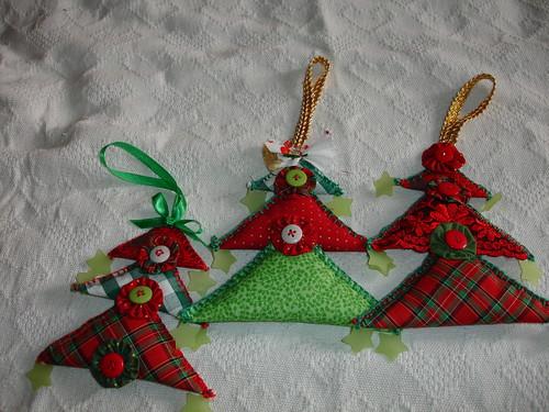 Árvore de Natal - para maçaneta por Raios de Luz - Gláucia Góes.