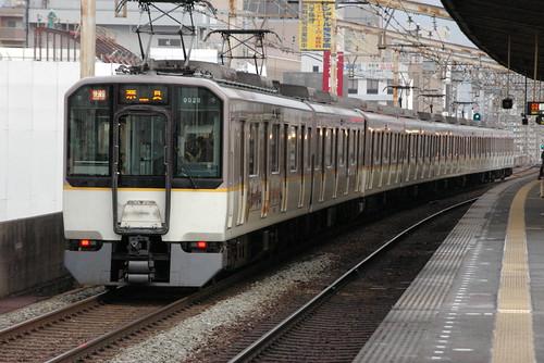 Kintetsu9020series in Fuse,Higashi-Osaka,Osaka,Japan 2008/11/29