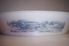 Vintage Glasbake Currier & Ives Divided Dish (Dummaniosa) Tags: vintage dish ives divided currier glasbake