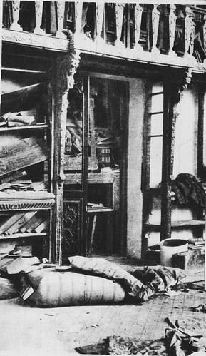 Biblioteca del Alcázar destruida en el verano de 1936