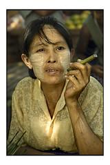 Smoking woman (fly) Tags: asia yangon burma myanmar rangoon fly simonkolton