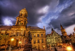 The Purpling Storm (Stuck in Customs) Tags: lighting old city sunset panorama orange storm colors lines clouds composition buildings germany photography dresden intense nikon warm shoot photographer purple shot angle image unique background details d2x perspective picture dramatic atmosphere edge processing pro romantic framing lovely capture drama hdr masterpiece treatment stuckincustoms treyratcliff