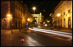 Quick (Katka S.) Tags: street city las sea espaa night islands spain long exposure erasmus capital ciudad canarias atlantic gran canary 2008 islas canaria palmas llp fotocompetitionbronze