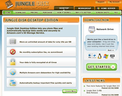 Jungle Disk - Reliable online storage powered by Amazon S3 - JungleDisk