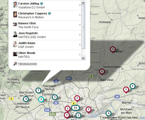XING Contacts Map
