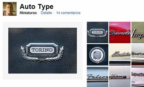 Coches, tipografía y fotografía