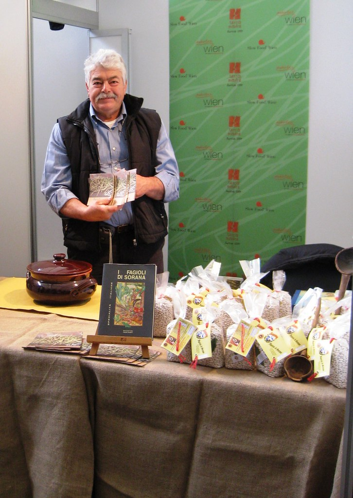 Enrico Gaggini with his Sorana Beans from Pescia, Italy.