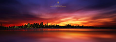 "reminesce ""mystical burn"" (louie imaging) Tags: city sunset sky sun classic skyline america vintage landscape evening bay twilight san francisco cityscape view sundown dusk united inspired down panoramic romance area romantic states vibes moment drama inspire jazzy fiery interpret interpretive"
