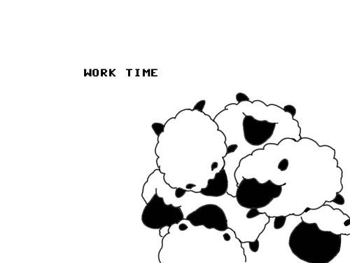 work time sheep