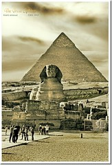 The Great Sphinx - Egypt (khalid almasoud) Tags: trip tourism sphinx sepia photographer place desert great egypt cairo journey historical khalid giza        almasoud   2007