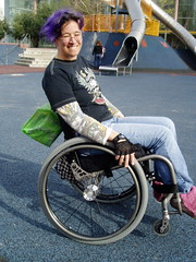 wheelie on the playground