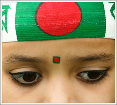 Amar Bangladesh-II (Catch the dream) Tags: red portrait green colors eyes colorful expression flag bongo dhaka independenceday bengal bangladesh bangla bengali bangladeshi bangali trappings 26thmarch catchthedream gettyimagesbangladeshq2